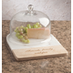 Personalized Marble And Wood Cheese Dome, One Size