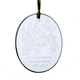 Personalized Dove Ornament, One Size