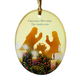 Personalized Candlelight Nativity Ornament, One Size