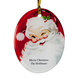 Personalized Jolly St. Nick Ornament Add A Name Or Initial For Free, One Size