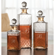 Personalized Etched Glass Decanters Set Of 3, One Size