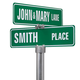 Personalized Street Sign, Two Sided, One Size