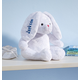 Personalized White Plush Bunny, One Size