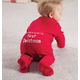 Personalized Baby's First Christmas Long Johns, One Size