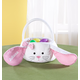 Personalized Gingham Easter Bunny Basket, One Size
