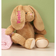 Personalized Brown Plush Bunny, One Size