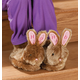 Personalized Plush Children's Easter Bunny Slippers, One Size