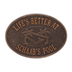 Personalized Swimming Pool Party Deck Plaque, One Size