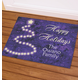 Personalized Happy Holidays Star Tree Doormat, One Size