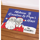 Personalized Grandma & Papa's Santa Claus Doormat, One Size
