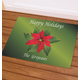 Personalized Happy Holidays Poinsettia Doormat, One Size