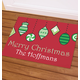 Personalized Merry Christmas Ornament Doormat, One Size