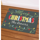 Personalized Merry Christmas Light Bulb Doormat, One Size