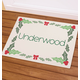 Personalized Holly Berries Doormat, One Size