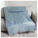 Personalized Winter Scene Afghan, 54