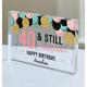 Personalized Acrylic Block Birthday Keepsake, One Size