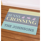 Personalized Bunny Crossing Doormat, One Size