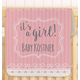 Personalized It's A Girl! Baby Sherpa Throw 30