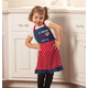Personalized All American Girl Children's Apron, One Size
