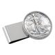 Monogram Walking Liberty Halfdollar Ss Silvertone Money Clip, One Size