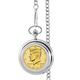 Monogrammed Gold-Layered Jfk Half Dollar Coin Pocket Watch, One Size