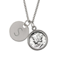 Silver Mercury Dime Silvertone Personalized Pendant Necklace, One Size