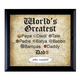 World's Greatest Dad Frame, One Size