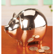 Personalized Silver Plated Piggy Bank Personalized, One Size