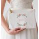 Personalized Floral Canvas Clutch, One Size