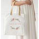 Personalized Floral Canvas Tote, One Size