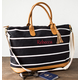Personalized Striped Canvas Oversized Weekender Tote, One Size