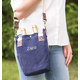 Personalized Navy Waxed Canvas Wine Tote, One Size