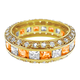 Goldtone Birthstone Eternity Ring, One Size