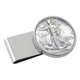 Year To Remember Monogram Half Dollar Silvertone Money Clip, One Size