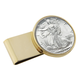 Year To Remember Monogram Half Dollar Goldtone Money Clip, One Size