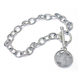 Year To Remember Sterling Silver Coin Toggle Coin Bracelet, One Size