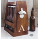 Personalized Rustic Craft Beer Carrier With Bottle Opener, One Size
