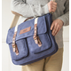 Personalized Men's Waxed Canvas And Leather Messenger Bag, One Size
