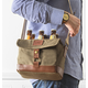 Personalized Insulated Waxed Canvas 6 Pack Bottle Carrier, One Size