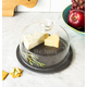 Personalized Slate Tray With Glass Dome, One Size