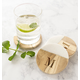 Personalized Marble & Acacia Wood Coasters, Set Of 4, One Size
