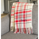 Personalized Red Plaid Throw, One Size
