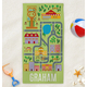 Personalized Neighborhood Road Map Kid's Beach Towel, One Size
