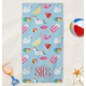 Personalized Summer Fun Kid's Beach Towel, One Size