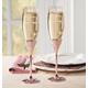 Personalized Eternal Love Rose Gold Toasting Flutes, One Size