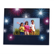 Personalized Fanciful Fireworks Textured Photo Frame, One Size
