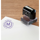 Personalized Initial Stamper Black, One Size