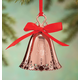 Personalized Rose Gold Tone Christmas Bell Ornament, One Size
