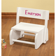 Personalized White Wooden 2-In-1 Chair And Stepstool, One Size