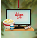 Personalized Tv & Popcorn Ornament, One Size